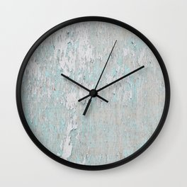 Distressed Turquoise Wall Clock