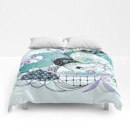 Winter tangle Comforters