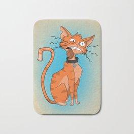 Cartoon Cat Catnip Bath Mat