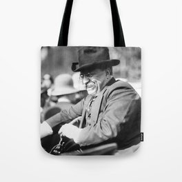 Teddy Roosevelt Greeting Crowd - 1910 Tote Bag