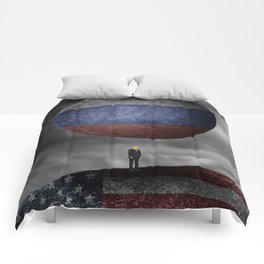 Trump. Between a rock and a hard place. Comforters