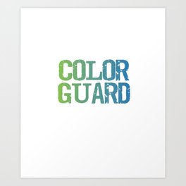 Spinning 6 Ft of Attitude Color Guard Pride T-Shirt Art Print