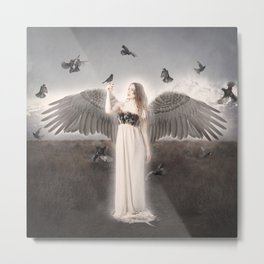Bird Angel Metal Print