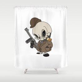 Cute Gangster Skull Shower Curtain