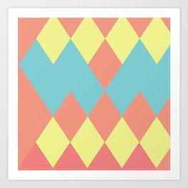 Merging summer pastels Art Print
