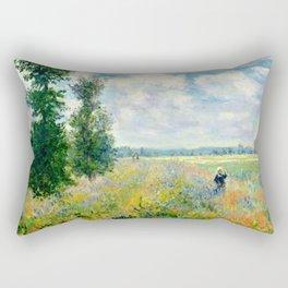 """Claude Monet """"Poppy Field, Argenteuil"""" Rectangular Pillow"""