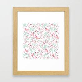 Whale Wash Framed Art Print