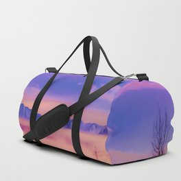 Alaskan Winter Fog Digital Painting Duffle Bag