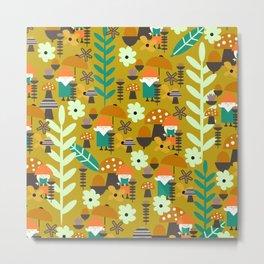 Autumn gnome garden Metal Print