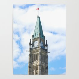 Closeup to the Ottawa Parliament Clock Tower (Canada) Poster