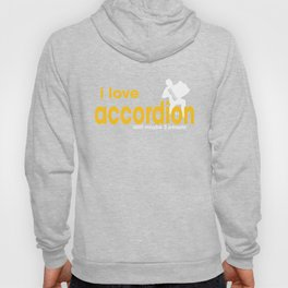 I Love Accordion Hoody