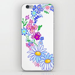 Abstract floral background iPhone Skin