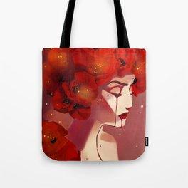 Red Poppy Girl Alternate Tote Bag