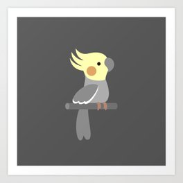 Cute cockatiel Art Print