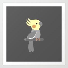 Cute cockatiel Art Print