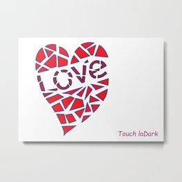 Mosaic Love Heart to claim a partner. Metal Print