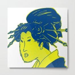 japanese lady Metal Print