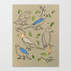 Singing Birds Canvas Print