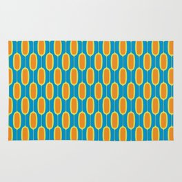 Mod Ovals - Orange & Blue Rug