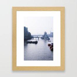 London - RT [Portrait] Framed Art Print