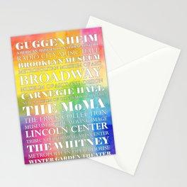 New York City arts - white Stationery Cards