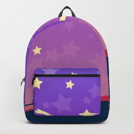 Starry sunset seen by cats Backpack
