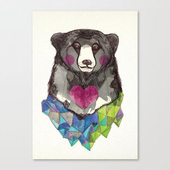 Bear yeah Canvas Print