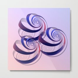 connected spirals Metal Print