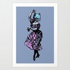 The Flamenco Cat  Art Print