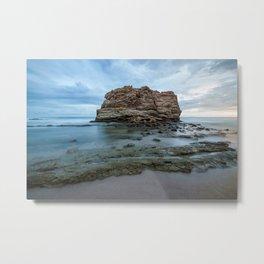 Big rock beach sunset Metal Print