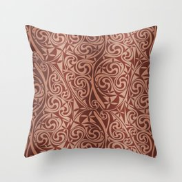 Celtic Warlord copper Throw Pillow