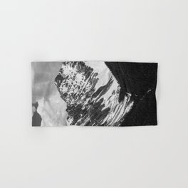 Black and White Canadian Rockies Hand & Bath Towel