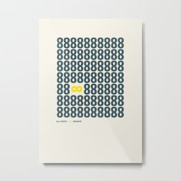 All finite - You infinite Metal Print