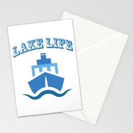Lake Life Boat Funny Sailing Gift Men Women Stationery Cards