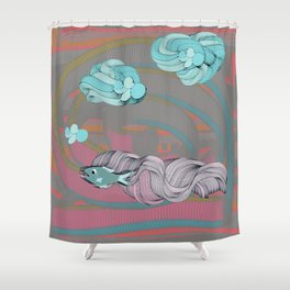 The eternal quest for happiness Shower Curtain