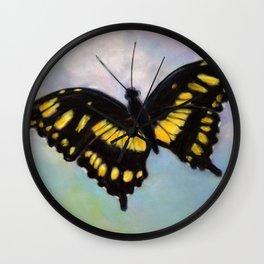 Butterfly In Flight Wall Clock