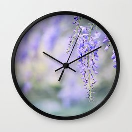 Romantic Wisteria I Wall Clock