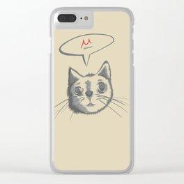 The Cat Says Mu Clear iPhone Case
