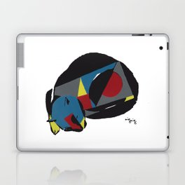 abstract sleeping cat (silkscreen) Laptop & iPad Skin