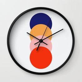 4 Classic Colorful Abstract Retro Dots Verbeia Wall Clock