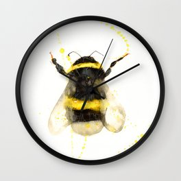 ORIGINAL WATECOLOR BUMBLE BEE Wall Clock