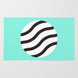 Zebra circle Rug