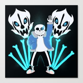 Sans the Skeleton Canvas Print