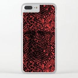 Snake Valiant Poppy Clear iPhone Case