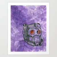 star lord Art Prints featuring Star-Lord by MTDesignsArt
