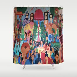 Pista sa aming nayon/ Our Town Feast Shower Curtain