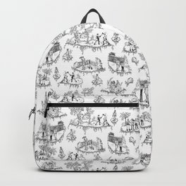 Zombie Toile - Black on White Backpack