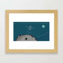 Be gentle with yourself Framed Art Print