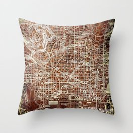 Washington West Columbia old map year 1945,colorful artwork Throw Pillow