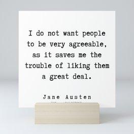 6    | Jane Austen Quotes | 190722 Mini Art Print